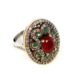 Osmański komplet Hurrem z rubinami