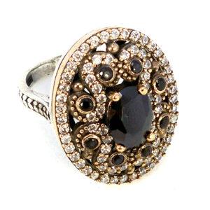 Osmański pierścień z onyksem