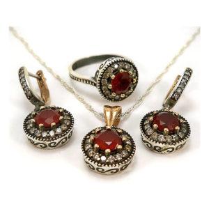 Delikatny komplet osmański z rubinami