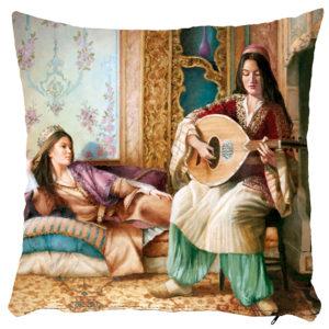 Poszewka dekoracyjna kobiety Imperium Osmańskie