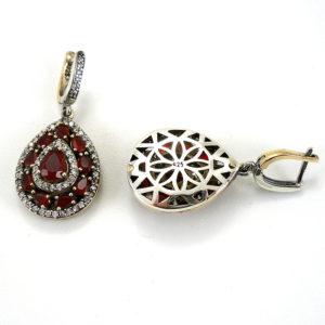 Osmański komplet Sułtanki z rubinami