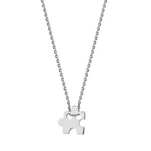 Srebrny naszyjnik z puzzlem, pr.925