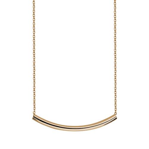 Srebrny naszyjnik ze srebrną pozłacaną rurką p.925