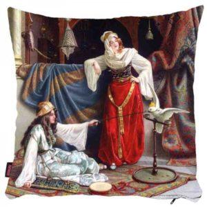Kobiety z białą papugą - poszewka na poduszkę