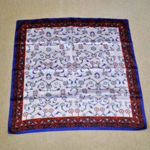 Osmańska niebieska apaszka z brązowymi dodatkami