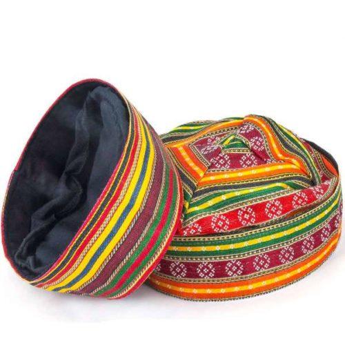 czapka wielkokolorowa w osmańskim stylu