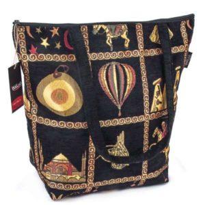 Czarna torba z uszami w osmańskim stylu
