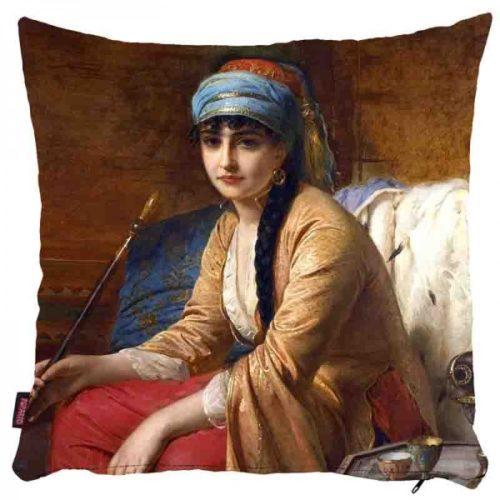 Młoda osmańska kobieta - poszewka na poduszkę