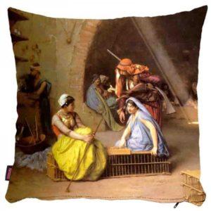 Tureckie kobiety podczas gry - poszewka na poduszkę