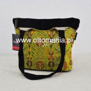 Jasnozielona torebka z uszami - osmańskie zdobieie