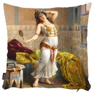 Kobieta z lusterkiem - poszewka na poduszkę