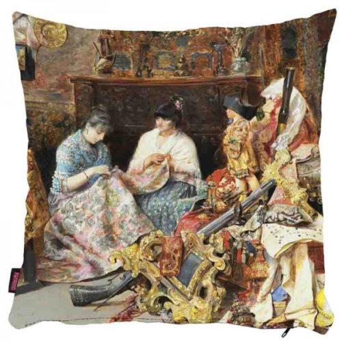 Haftujące kobiety - poszewka na poduszkę