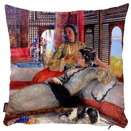 Kobiety w salonie - poszewka na poduszkę