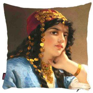 Osmański portret kobiety - poszewka na poduszkę