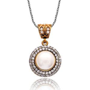 Osmański naszyjnik z perłą