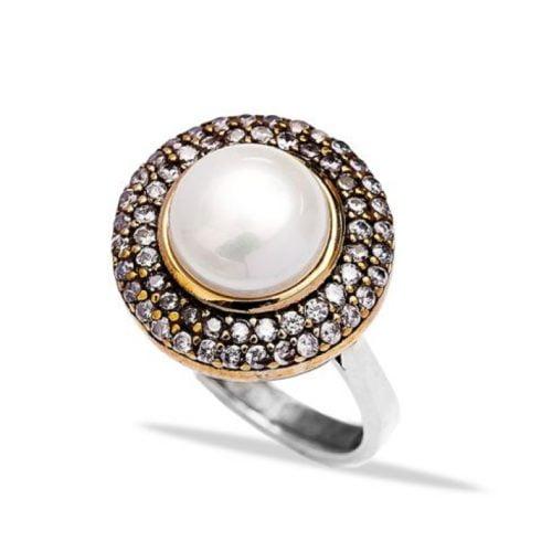 Osmański pierścień z perłą