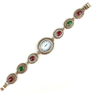 Zegarek z bransoletką z kamieniami