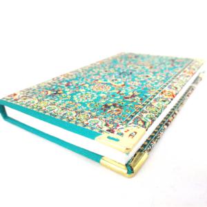 Osmański notes- mały, w morskim kolorze