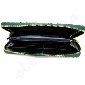 Orientalny portfel damski na suwak
