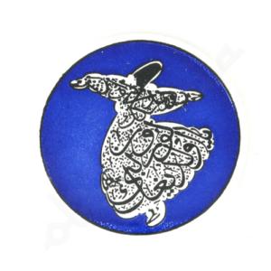 Granatowa ceramiczna podkładka pod kubek 9 cm z derwiszem