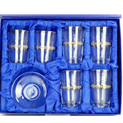 Kryształowe szklaneczki do tureckiej herbaty, tulipanki