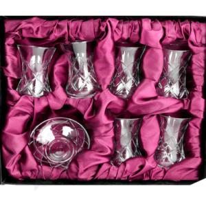 Kryształowe tulipanki do tureckiej herbaty - 6 szt.