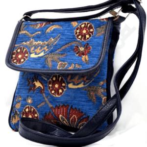 Mała granatowa torebka - osmański wzór