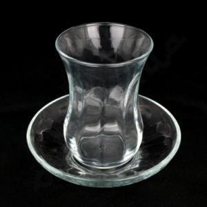 Szklaneczki do tureckiej herbaty, tulipanki - 6 szt.