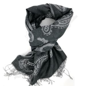 Orientalny szal z kaszmiru w kolorze czarnym