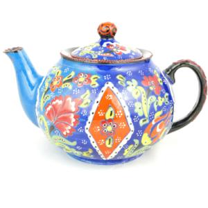 Czajnik ceramiczny niebieski