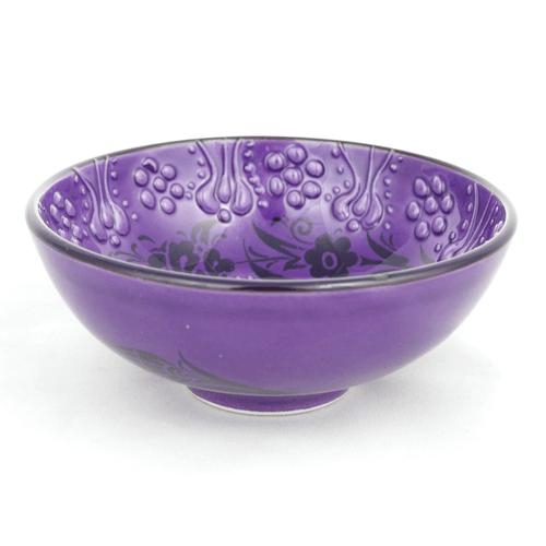 Miseczka ceramiczna 11 cm fioletowa