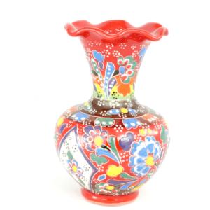 Wazon ceramiczny 13 cm czerwony