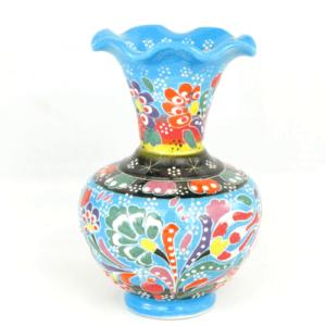 Wazon ceramiczny 13 cm niebieski