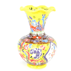 Wazon ceramiczny 13 cm żółty