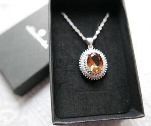 Zultanite - srebrny naszyjnik