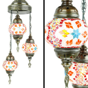 Lampa ręcznie robiona wisząca mozaikowa