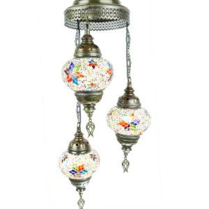 Lampa turecka wisząca potrójna