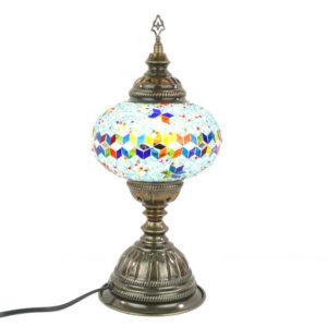 Lampa turecka mozaikowa stojąca średnia