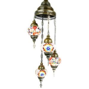 Orientalna mozaikowa lampa