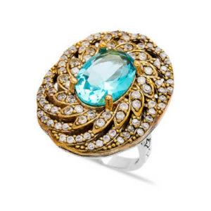 Srebrny pierścień z topazem