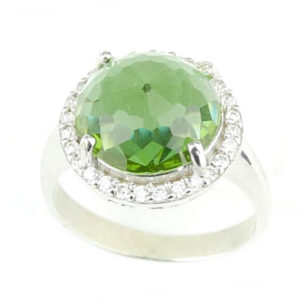 Okrągły pierścień z zultanitem - srebro 925