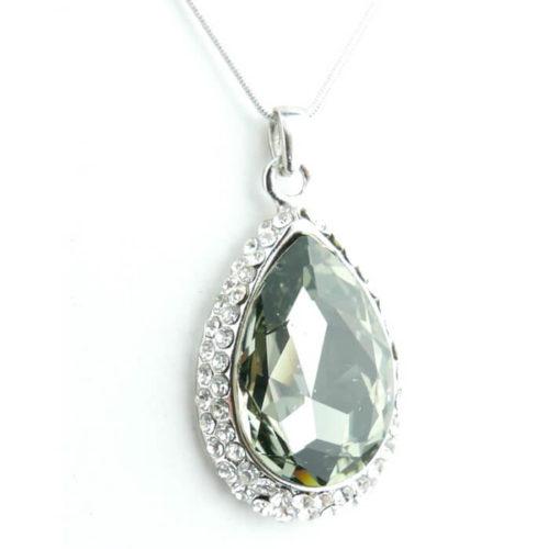 Naszyjnik łezka z krystalicznym kamieniem