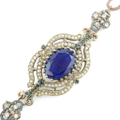 Wyjątkowa bransoletka z niebieskim kamieniem