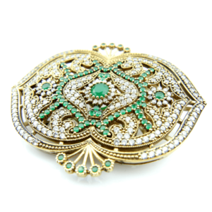 Srebrna broszka orientalna na dodatek do stylizacji