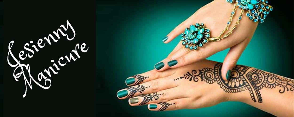 Orientalny jesienny manicure