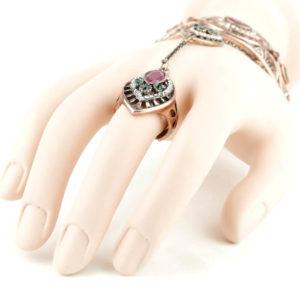 Bransoletka połączona z pierścionkiem