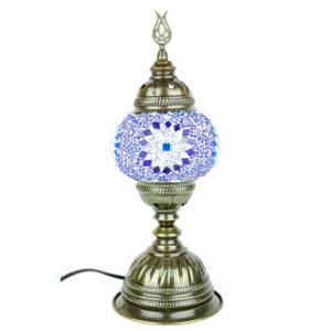 Lampa mozaikowa stojąca