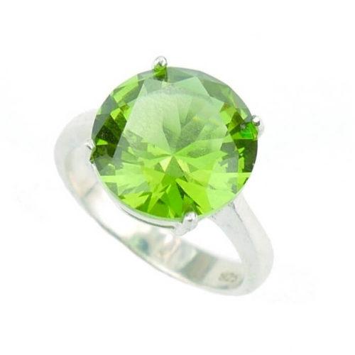 Okrągły pierścień z zultanitem - rozm. 15
