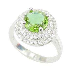 Srebrny pierścień z Zultanite i Cyrkoniami