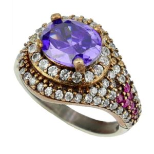Srebrny pierścionek z ametystem